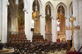 MADRID, SPAIN - MAY 28, 2014: Cathedral Santa Maria la Real de La Almudena in Madrid, Spain.