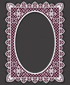 Vintage frame design isolated on grey background.