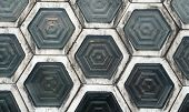 picture of interlocking  - Hexagon Shaped Window Blocks Interlocking Wall Pattern - JPG