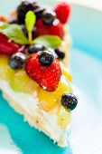 cake with fresh berries