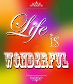 Life is wonderful