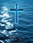 foto of revelation  - Holy Cross of water ripple  - JPG