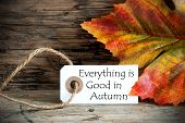 Autumn Label With Everything Is Good In Autumn