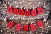 Snowy Christmas Background With The Words Frohes Fest