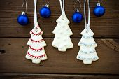 Christmas Decorations As Christmas Or Winter Background