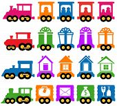 set train - delivery services icons