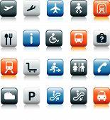 Reizen Icons kleur Square knoppen