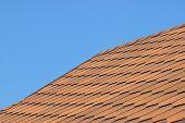 Roof Of Bituminous Tiles.