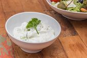 Greek Tzatziki Garnished With Parsley
