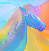 Portrait Of Magic Unicorn.
