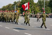 Canadian Armed Forces During The Parade in Warsaw
