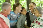 Portrait of friendly family