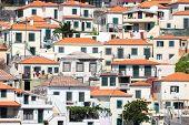 Houses Against A Hill At Camara De Lobos Near Funchal, Madeira Island