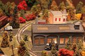 Train station of a miniature train