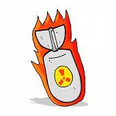 cartoon atom bomb