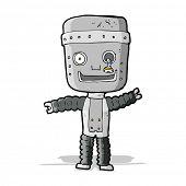 cartoon funny robot