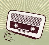 Retro party - old radio