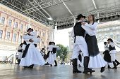 ZAGREB, CROATIA - JULY 20: Members of folk groups St. Jerome from Strigova, Croatia during the 48th