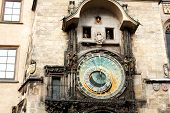Famous Astronomical Clock (old Town Square In Prague, Czech Republic, Europe)