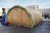 Big Inflatable Tent At The Kuibyshev Square In Samara, Russia