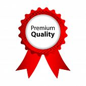 Premium Quality Red Badge