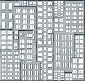 City, Panorama Of Houses Hand Drawn