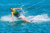 Enjoying Kiting In The Sea