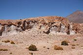 Volcanic rock landscape