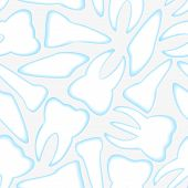 Vector White And Blue Teeth Seamless Pattern Eps10