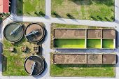 Aerial View Of Giannitsa City Sewage Treatment Plant