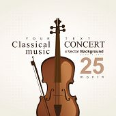 Poster with violin