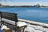 stock photo of thomas jefferson memorial  - Washington DC in Winter  - JPG