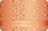 Luxury Bronze Card With Card Symbols Ornament