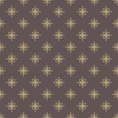 Floral Seamless Vector Pattern. Orient Golden Abstract Background