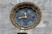 VIENNA, AUSTRIA - OCTOBER 10: Clock at St Stephens Cathedral in Vienna, Austria on October 10, 2014