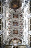 VIENNA, AUSTRIA - OCTOBER 10: Interior view of Dominican Church in Vienna, Austria on October 10, 2014. Famous baroque church was completed in 1634.