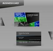 Modern Design Business Card Vector Template
