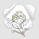 Cute Sketch Cupid