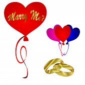 Wedding Vector-Marry Me Balloons
