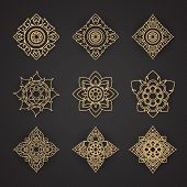 foto of classic art  - Vector set of thai art design  - JPG