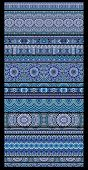 Abstract vector tribal ethnic seamless stripes