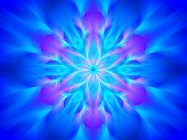 Blue Glowing Yantra