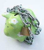 Piggy bank with padlock 2