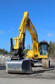 Komatsu Crawler Excavator On A Yard