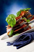 Aubergines With Tomato Sauce - Parmigiana