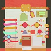 Vintage Web And Tags Design Layout 2, Create By Vector