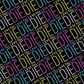 Love Till Die Typographic Quote Pattern