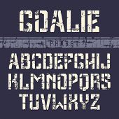 Stencil-plate Sans Serif Font In The Sport Style