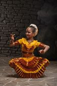 stock photo of indian culture  - bewitching Indian dance at sunset - JPG