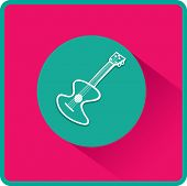 Guitar sign. Flat Vector Icon